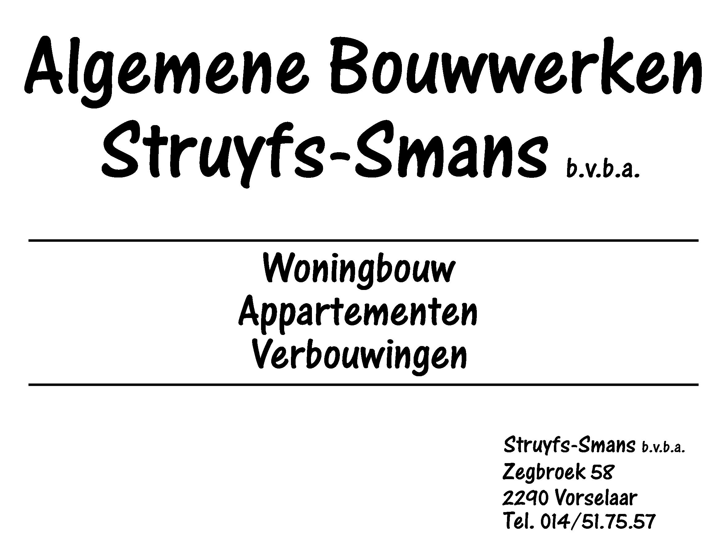 Algemene bouwwerken Struyfs - Smans